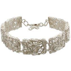'Energized' Sterling Silver Link Bracelet