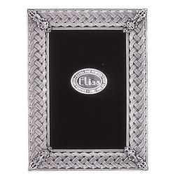 Silver Ornamental Weave Picture Frame