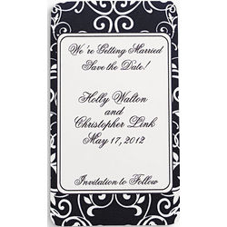 Personalized Black and White Wedding Save The Date Magnets