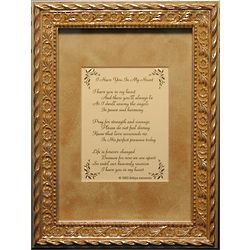 """I Have You in My Heart"" Framed Memorial Poem"