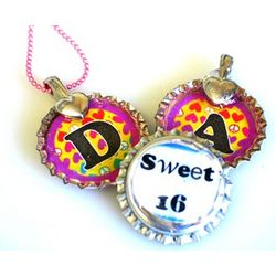 Bottle Cap Jewelry Sweet 16