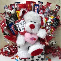 Paw Prints Candy Bouquet