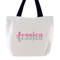 Think Pink Personalized Tote Bag
