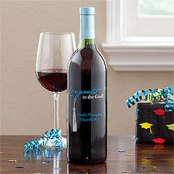 Personalized Graduation Tassel Bottle of Wine