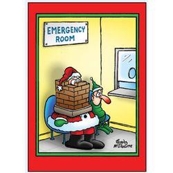 Santa Stuck Christmas Card