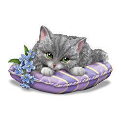 Love Never Forgets Alzheimer's Support Kitten Figurine