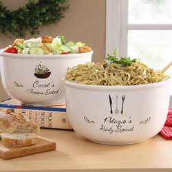 Personalized Special Dish Ceramic Serving Bowl