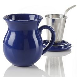 Curve Blue Infuser Tea Mug