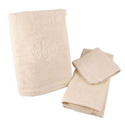 Personalized Beige Towel Set