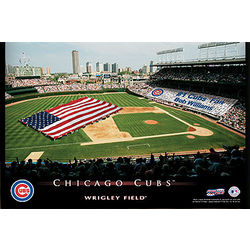Personalized 12x18 Chicago Cubs Stadium Canvas