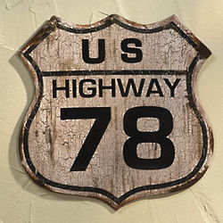 Highway 78 Wall Sign