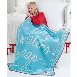 Long Winter's Nap Knit Throw Blanket