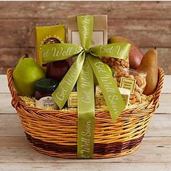 Some Like It Hot Snack Basket with Get Well Ribbon