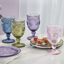 Pastel Rainbow Florentine Goblets