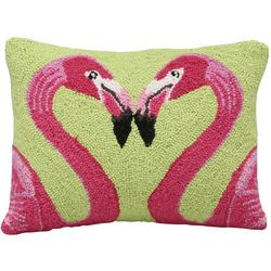 Flamingo Love Hooked Pillow