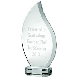 Personalized Glass Flame Award