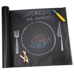 Chalkboard Table Runner with Dustless Chalk
