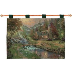 Mountain Paradise with Verse Tapestry