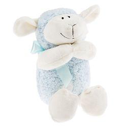 Praying Lamb Stuffed Animal in Blue
