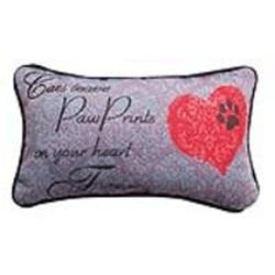 Cats Leave Pawprints Forever Word Pillow