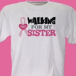Walking - Breast Cancer Awareness T-shirt
