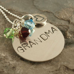 Grandma Hand Stamped Necklace