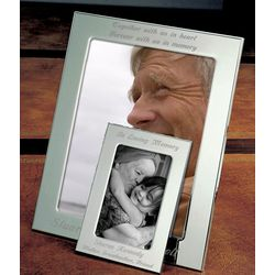 Personalized Remembrance Silver Picture Frame