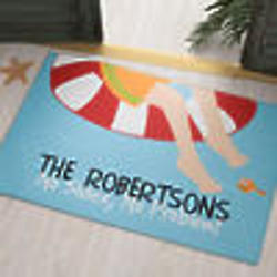 Personalized Swimming Pool Doormat - No Shoes, No Problem