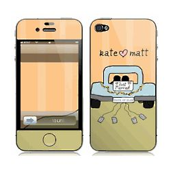 Just Married Personalized Cell Phone Skin