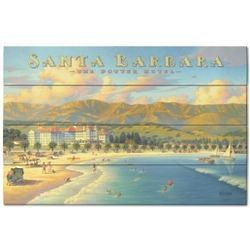Santa Barbara Wood Plank Sign