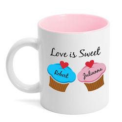 Love is Sweet Cupcake Coffee Mug