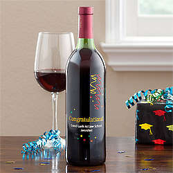 Personalized Graduation Steamers Bottle of Wine