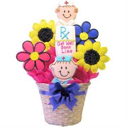 Personalized Get Well Cookie Bouquet