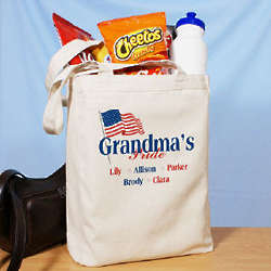 American Pride Personalized Canvas Tote Bag