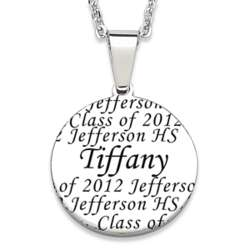 Stainless Steel Personalized Graduate Name Necklace