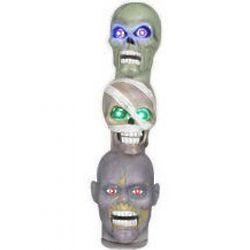 Creepy Singing Heads Totem Pole