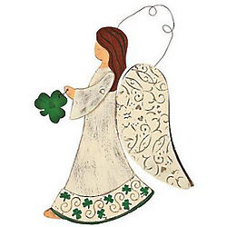 Wooden Irish Angel Wall Decor