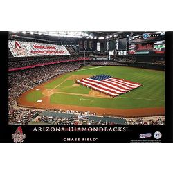 Personalized 16x24 Arizona Diamondbacks Stadium Canvas