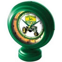 John Deere Neon Tabletop Clock