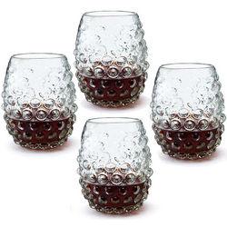 Grape Stemless Wine Glasses