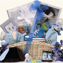 Bouncing Baby Boy Gift Basket