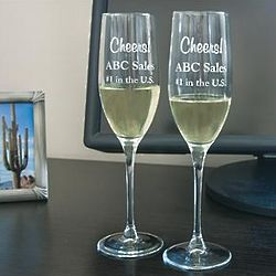 Celebration Personalized Toasting Flutes