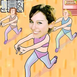 Your Photo in an Aerobic Exercise Caricature