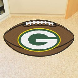Green Bay Packers Fanmat Ball-Shaped Rug