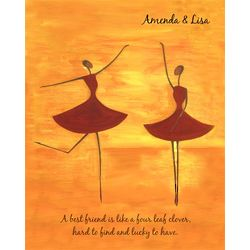 Dancing Pair II Personalized Artwork