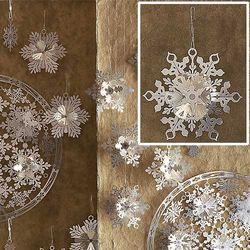 Silver Snowflake Ornaments