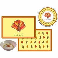 Tom the Turkey Personalized Placemat