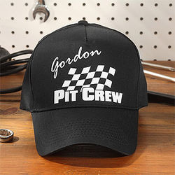 Personalized Pit Crew Baseball Cap