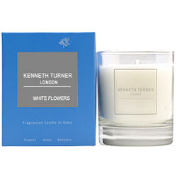 Kenneth Turner White Flowers Candle