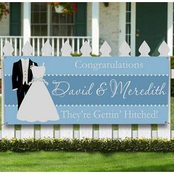 Personalized Wedding Shower Party Banner